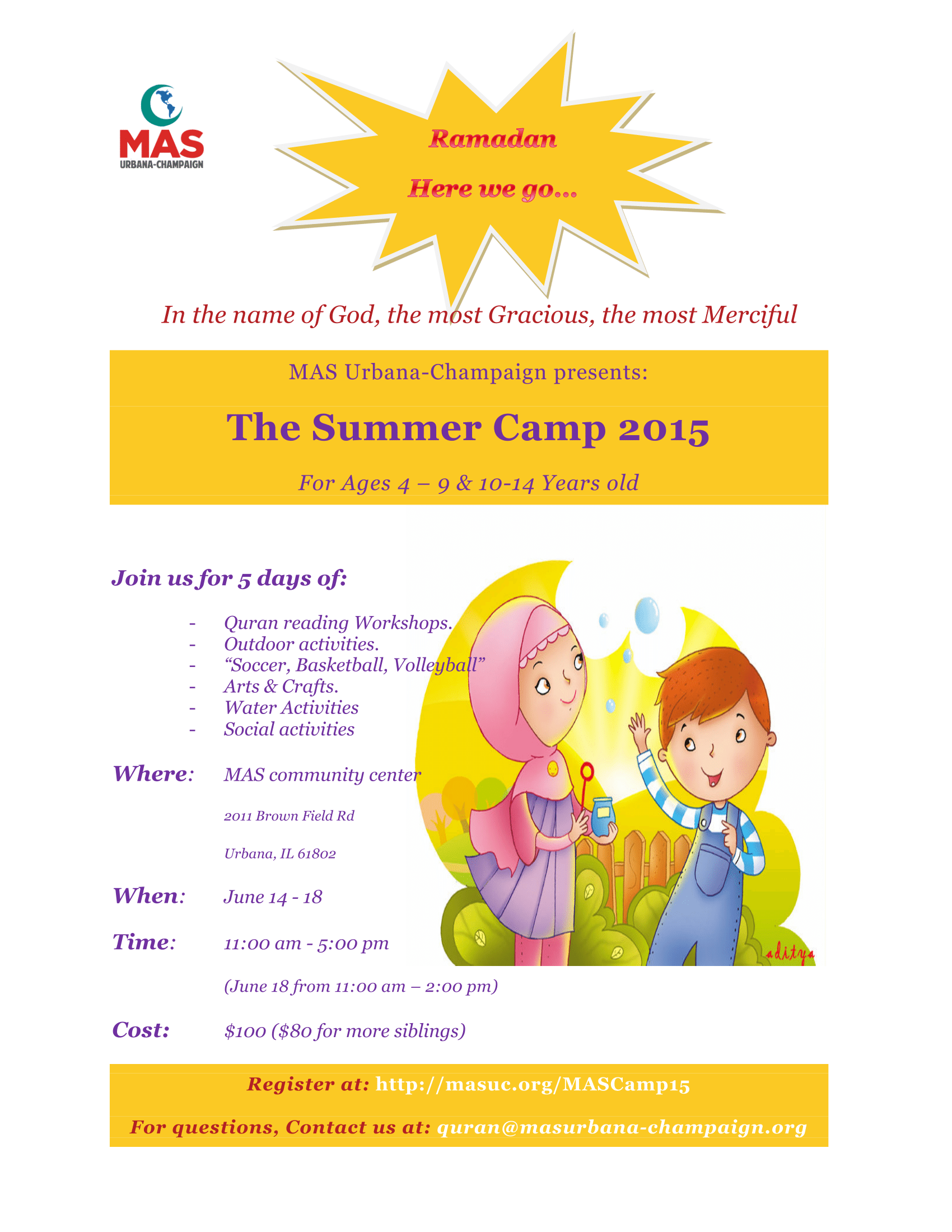MAS Camp Flyer